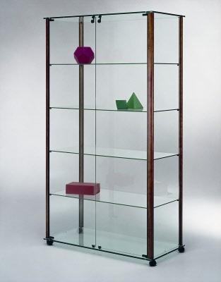 vitrinen standvitrine mit aluminium rahmen ma e 103x45x180 cm. Black Bedroom Furniture Sets. Home Design Ideas